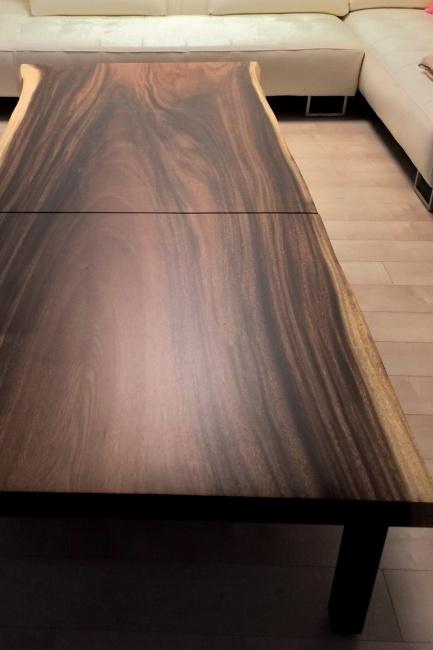 モンキーポッド一枚板 2Way連結テーブル