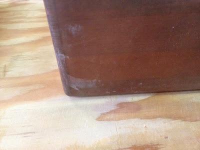 家具の引き出しの塗装修理