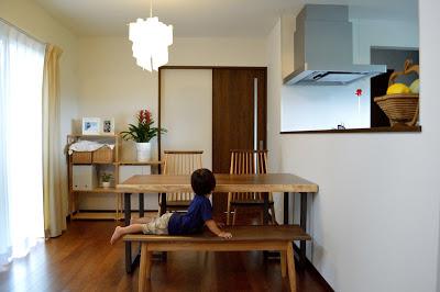 モンキーポッド一枚板のダイニングテーブルセット