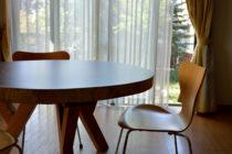 モンキーポッド一枚板の輪切り丸テーブル