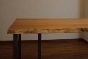 クルミ耳付 天然木無垢材テーブル