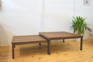 ウォールナット材のネストテーブル