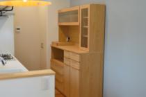 オーク材のオーダー食器棚
