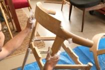 北欧椅子のソープフィニッシュ