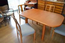 チーク材テーブルの修理