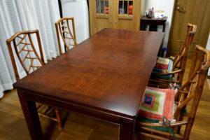 テーブル天板の磨き直し修理