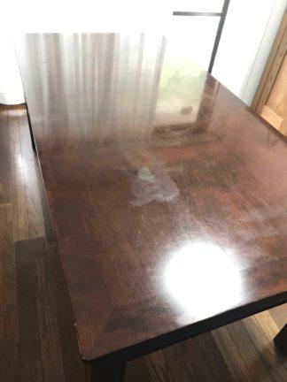テーブル天板の磨き直し修理前
