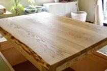 タモ耳つき天板の掘りごたつ座卓