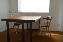 ウォールナット耳付きダイニングテーブル