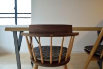 オリジナル鉄脚ウォールナットテーブル